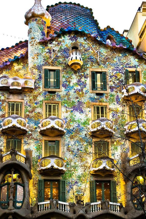 Digitale Bild Ist Casa Batlló Von Antoni Gaudí Entworfen Etsy