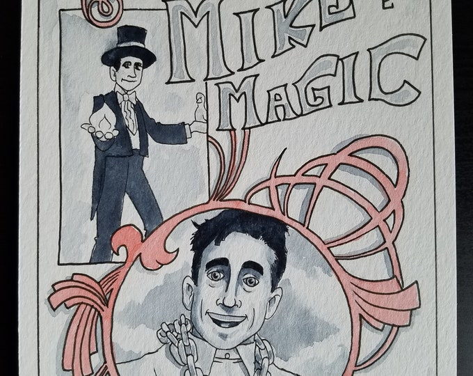 Mike the Magic - Ink and Watercolor - The Office