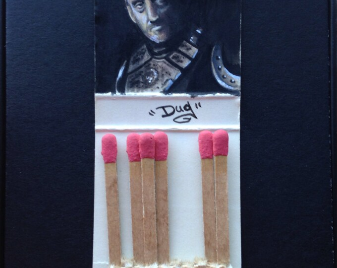 Matchbook painting - The Tywin Lanister - Game of Thrones