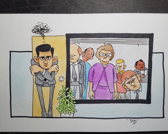 If they like prison so much - ink and watercolor - the Office