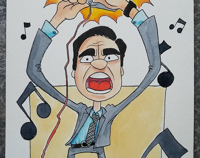 Everybody Dance Now - ink and watercolor - the Office