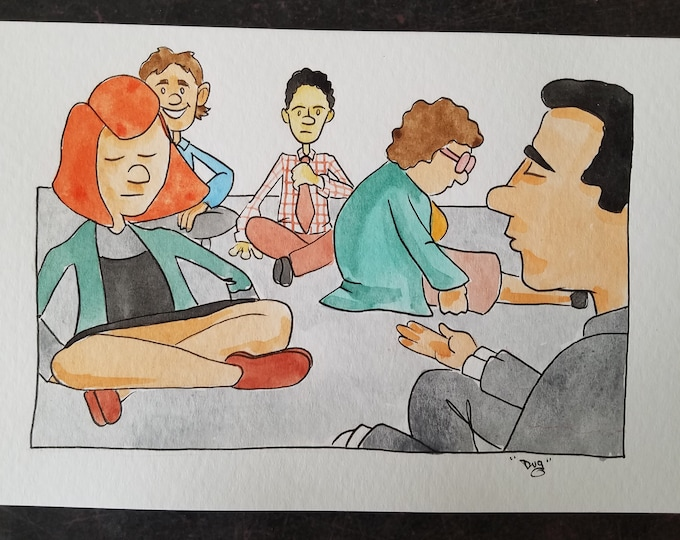 Nobody wants to see that - ink and watercolor - the Office