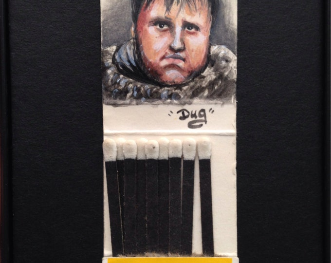 Matchbook painting - Samwell Tarly - Game of Thrones