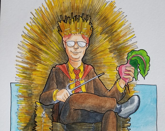 Hay of Thrones - ink and watercolor - the Office