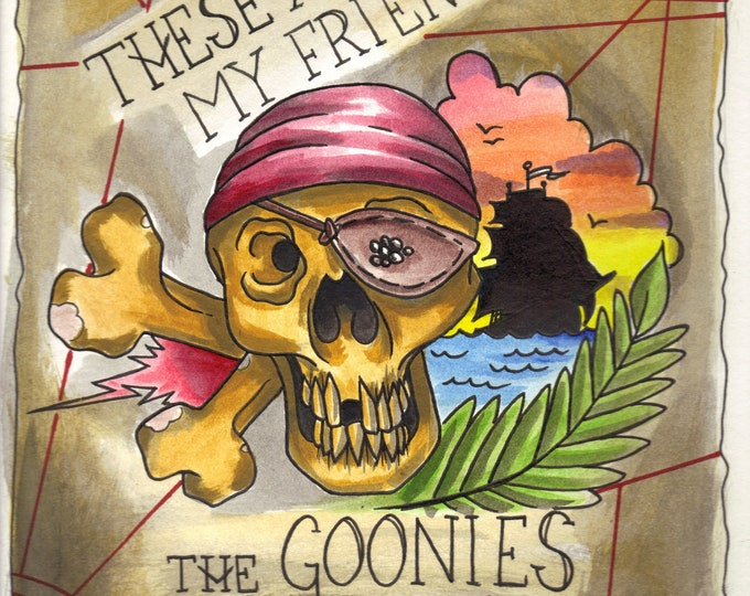 One Eyed Goonie print - the Goonies inspired