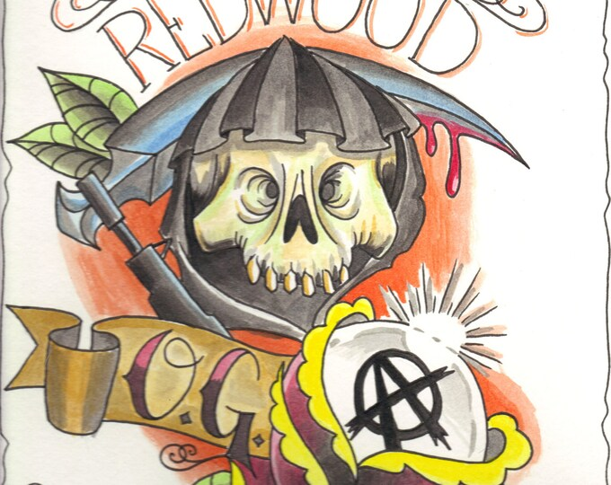 Redwood OG print -Sons of Anarchy inspired