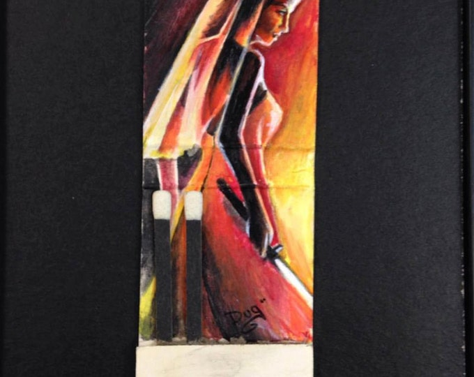 Matchbook painting - The Bride - Kill Bill
