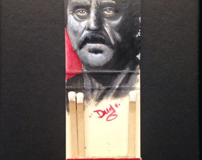 Matchbook painting - Al Swearengen  - Deadwood   -   acrylic