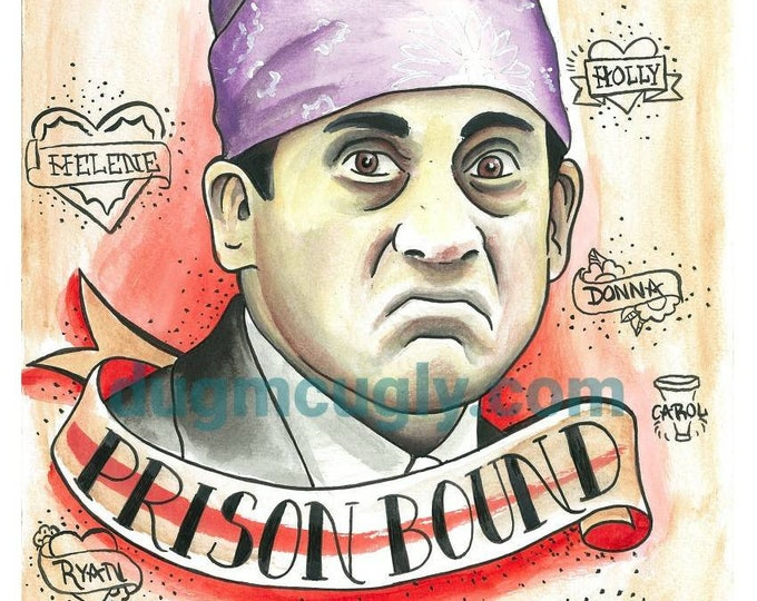Prison Mike Print - the Office - Michael Scott