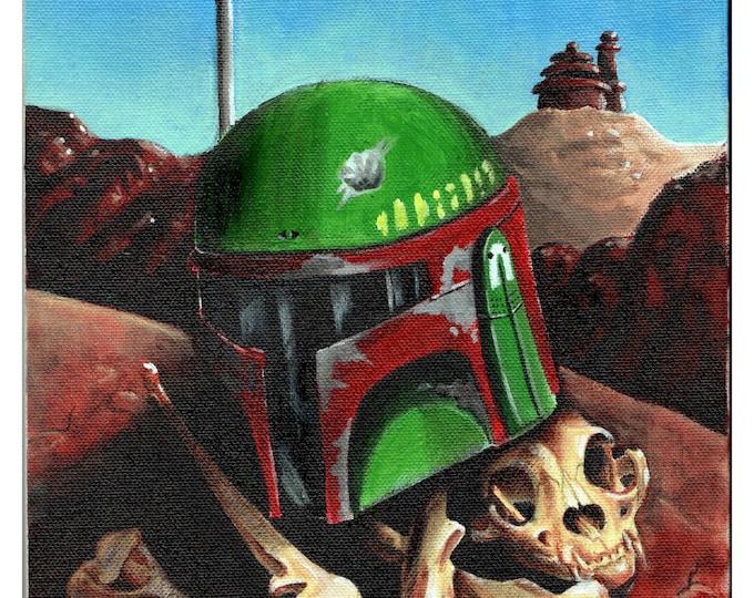 Boba Fett Skull - Star Wars - Print
