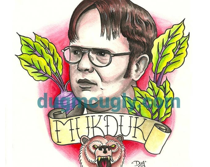 Mukduk - Dwight Schrute - Print - Art based on the Office