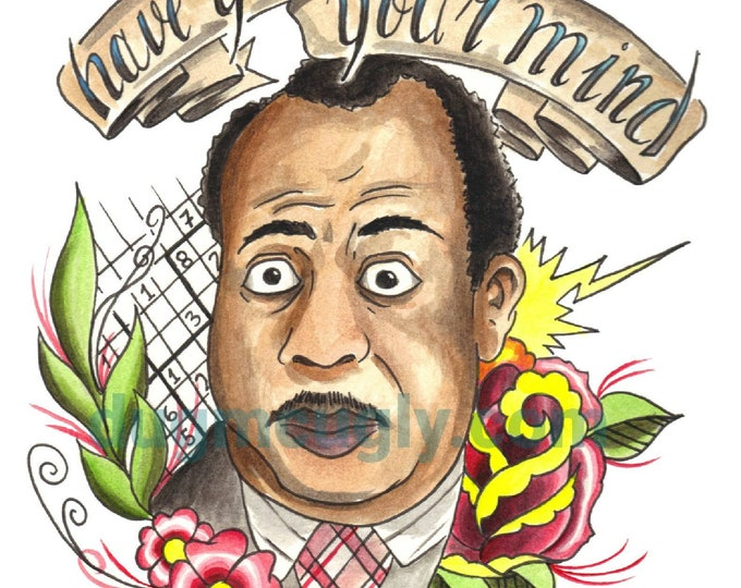 Sniffin' Around Print - Stanley Hudson - the Office