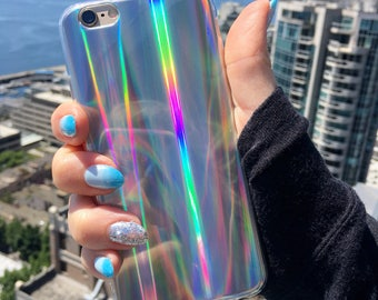 Laser Beam Holographic iPhone Case, Hologram Case, Reflective Case, Shiny Case, iPhone 8, iphone X case