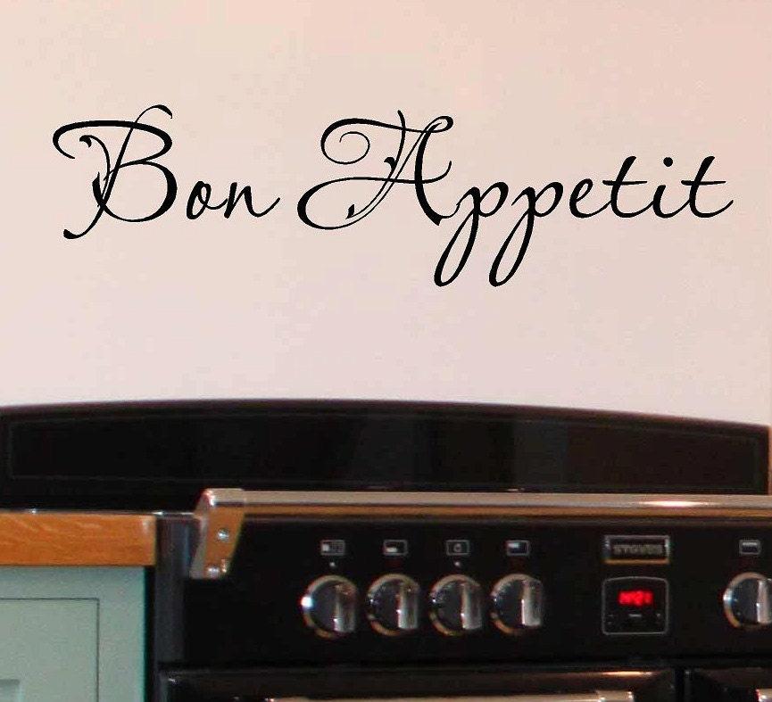 Kitchen Wall Sayings Vinyl Lettering: Bon Appetit Vinyl Lettering Words Kitchen Wall Quotes