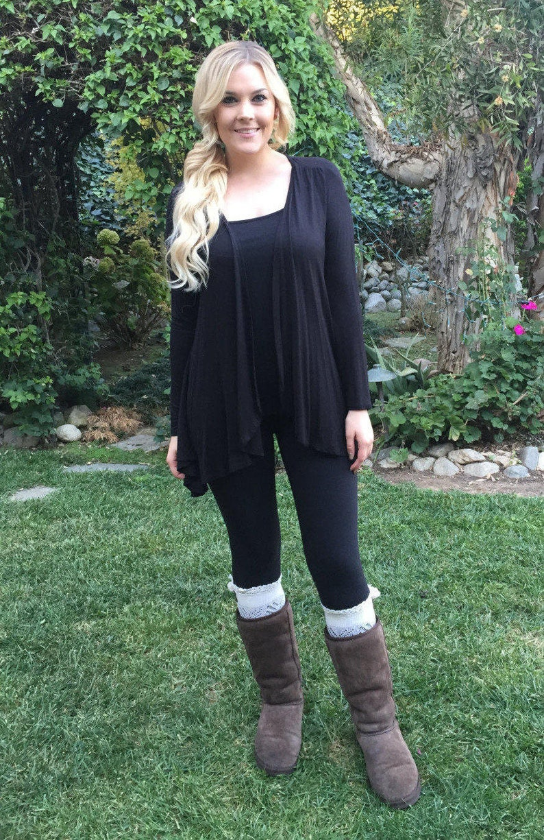 4222d16399 Black Cardigan Womens Black Sweater Black Rayon Cardigan