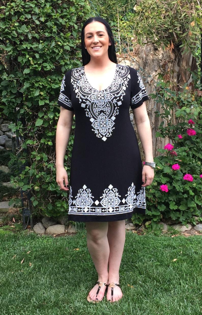 Plus Size Dress Black Dress Boho Dress Womens Western | Etsy
