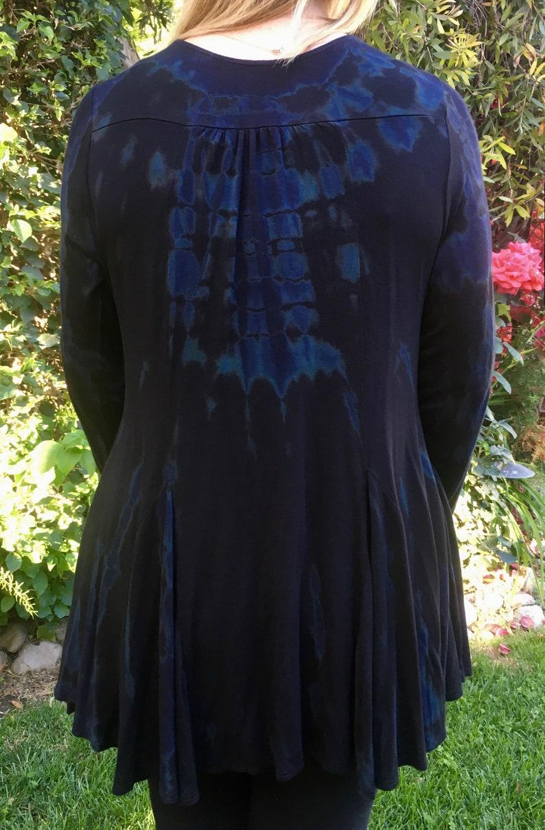 Panel Cardigan Plus Size Summer Fashion Plus Size Cardigan SM LXL Plus Tie Dye Plus Size Clothing Dyed Black Marble