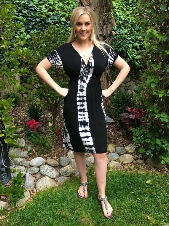 Plus Size Summer Dress Tie Dye Dress Kimono Style Dress Tie Etsy