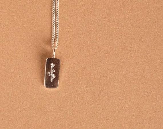 WINTER FLOWER silver pendant