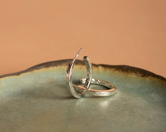 Small silver hoops LOUISETTE
