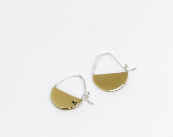 Candide brass earrings