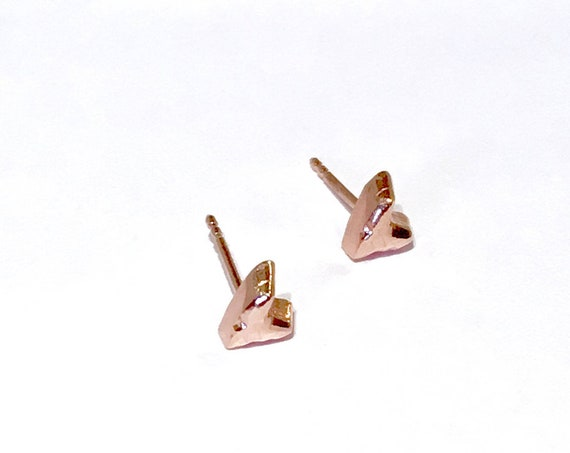 Studs hearts rose gold