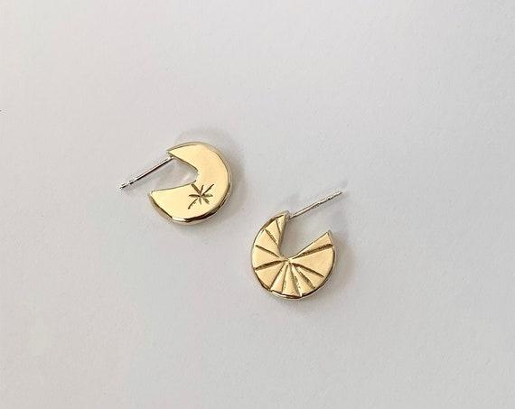 SKY brass earrings