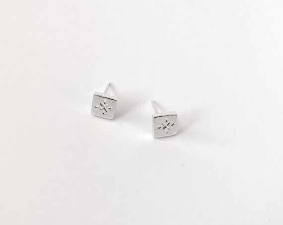 WIND silver earrings