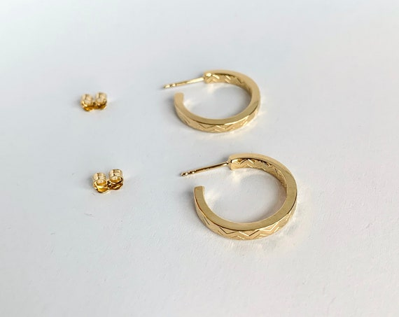 Small gold Louisette hoops