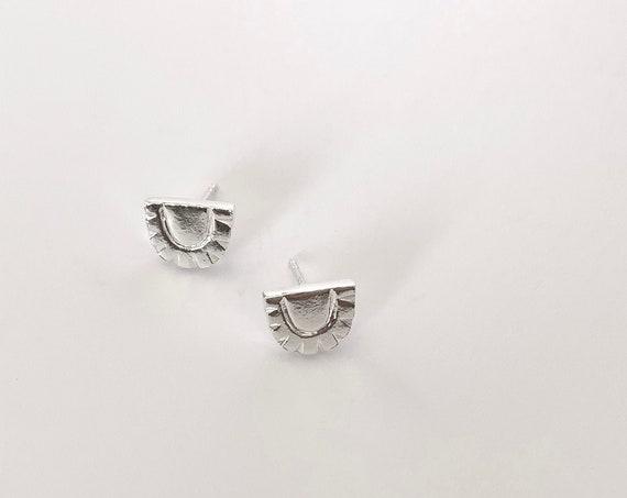 WEST silver earrings
