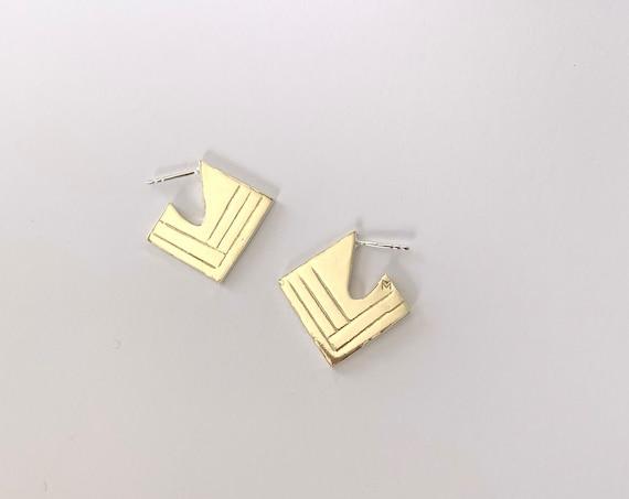 ART-DECO brass earrings