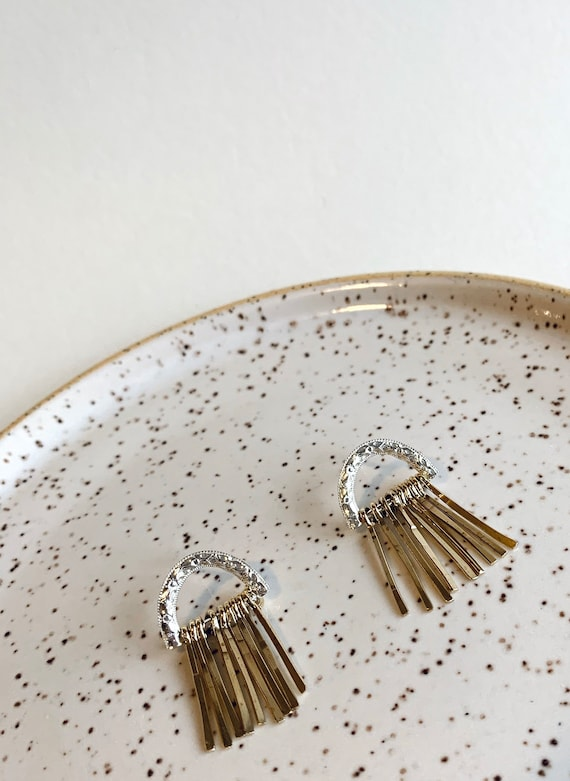 Nino Silver and Brass Studs