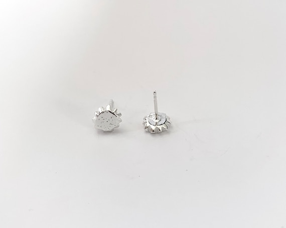 SUN silver earrings