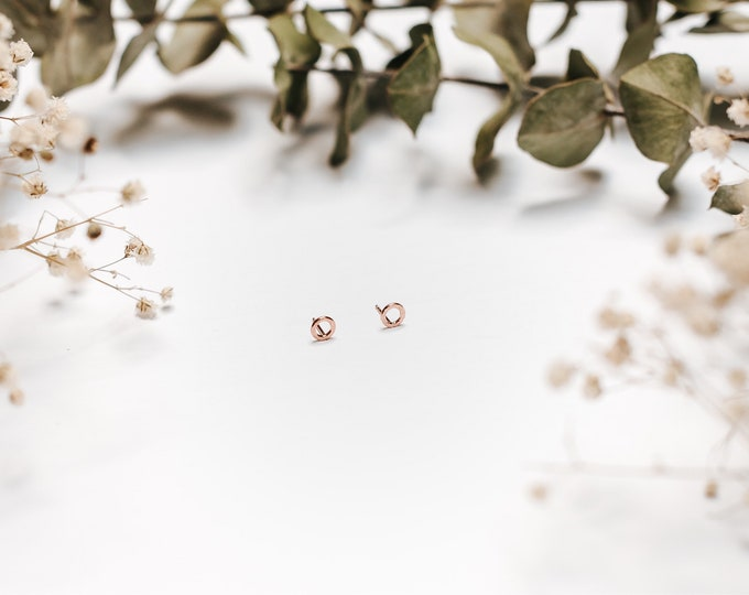 Rose gold studs Odile