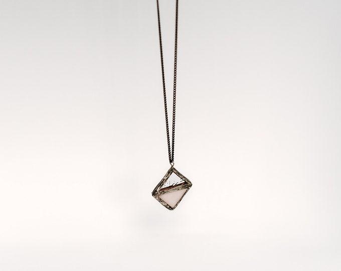 Pink losange pendant