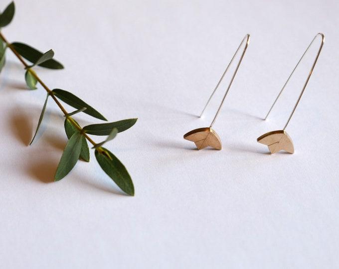 Bronze Lotus earrings
