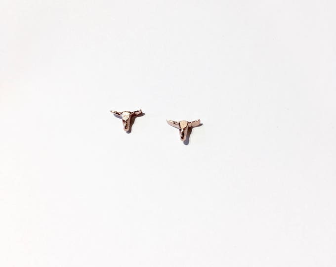 Rose gold studs minid oxen