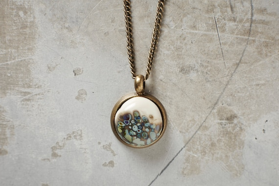 Flameworked glass classy pendant