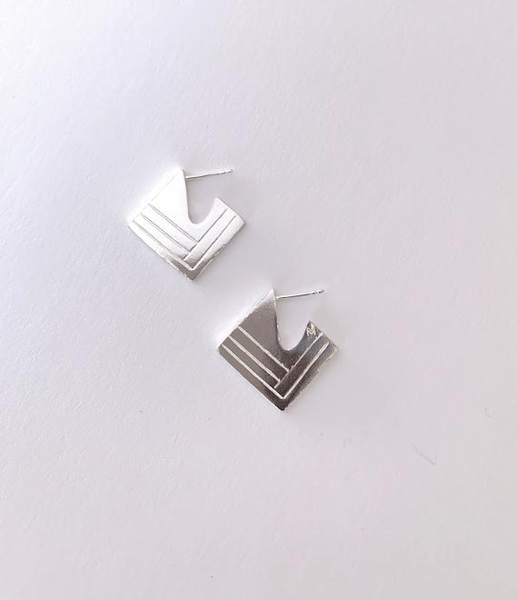 ART-DECO silver earrings