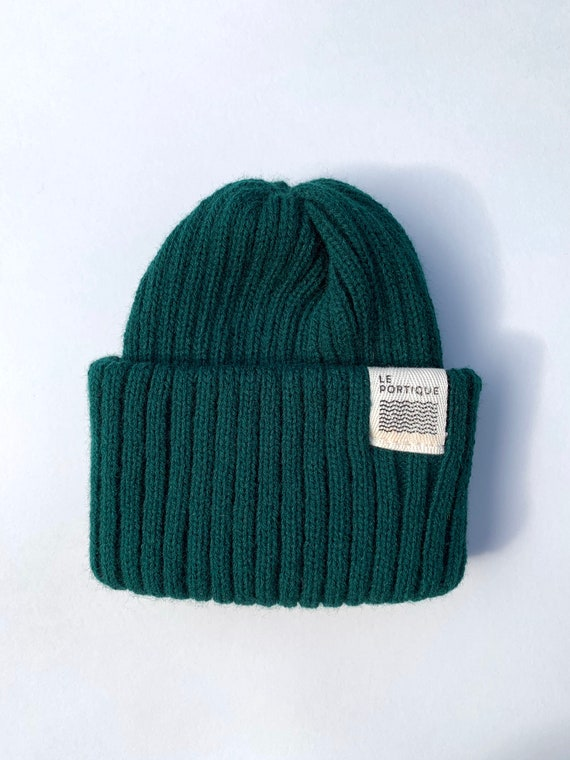 Children's maritime tuque - forest green
