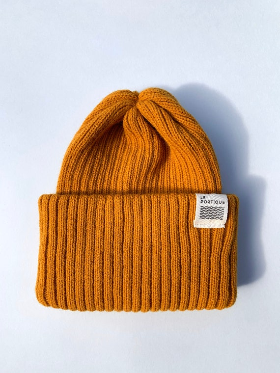 Adult maritime tuque - ochre