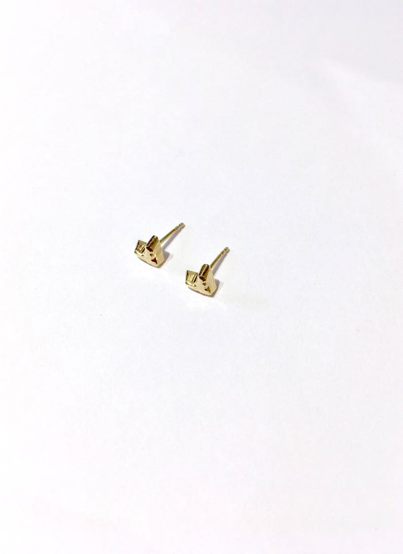 Hearts studs yellow gold