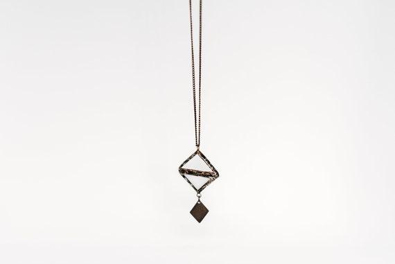 White losange pendant