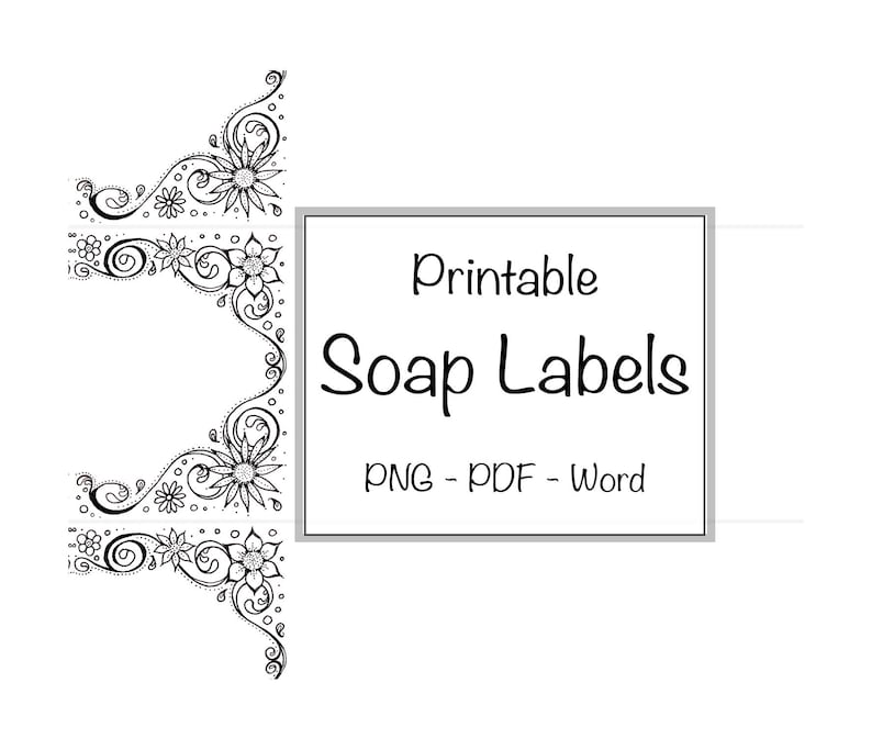 image about Printable Soap Labels identified as Cleaning soap Labels Flower Editable Printable Bouquets Label Attractive Natural and organic Traditional Tailor made Band Selfmade Hand Drawn Cleaning soap Candle Container Beauty
