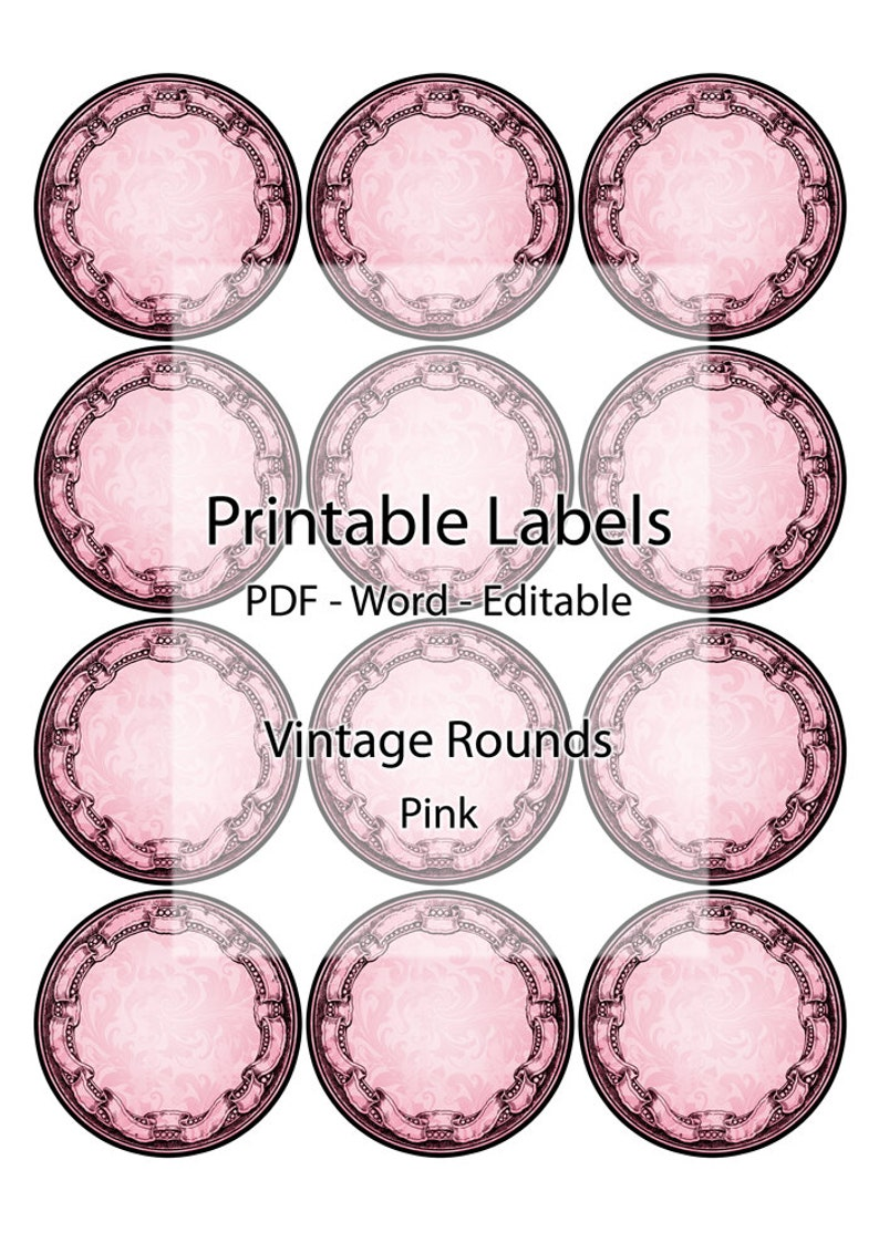 graphic regarding Round Printable Labels titled Spherical Printable Labels Jar Container Electronic Editable Label Stickers Tags Lid Ultimate Red Seal Classic Comfortable Wonderful Exquisite Custom made Homemade