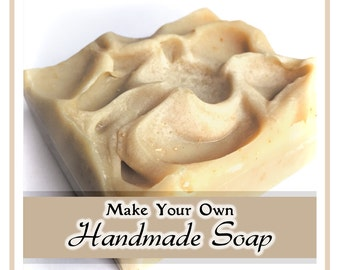 Soap Recipe. Make Handmade Cold Process Simple DIY Natural Craft Project Homemade Baking Ideas For Kids Family Girls Ladies Hobby