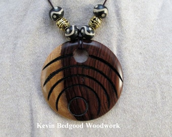 Necklace with beads hand made Bolivian Rosewood