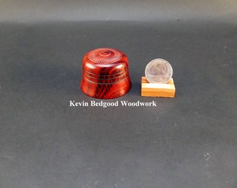 Box Lidded Container Proposal engagement East Asian Rengas Tiger wood, jewelry stash