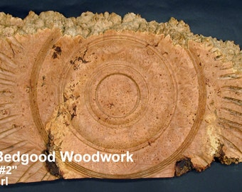 sculpture Corona 2, Turned wood , Lathe Sculpted Artwork, Wall Hanging, Wall Art
