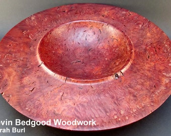 Bowl Jarrah Burl, turned wood